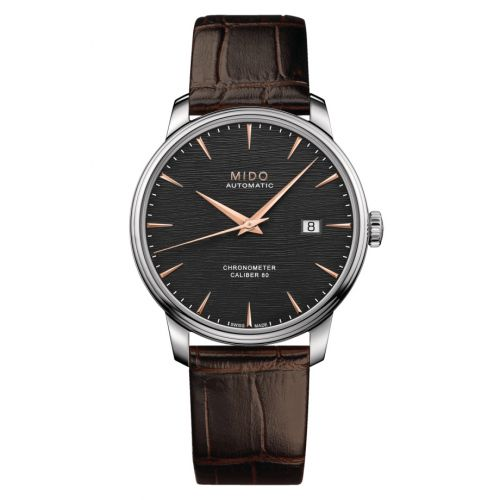 Mido M027.408.16.061.00 : Baroncelli Chronometer Stainless Steel / Anthracite