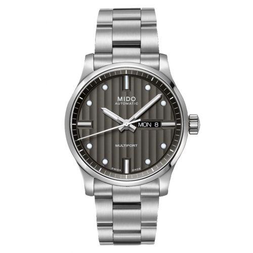 Mido M005.430.11.061.80 : Multifort Gent Stainless Steel / Grey / Bracelet