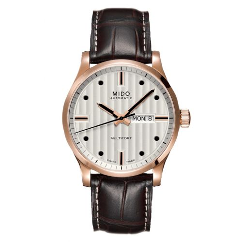 Mido M005.430.36.031.80 : Multifort Gent Rose Gold / Silver