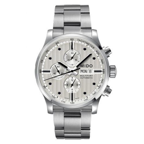 Mido M005.614.11.031.00 : Multifort Chronograph Stainless Steel / Silver / Bracelet