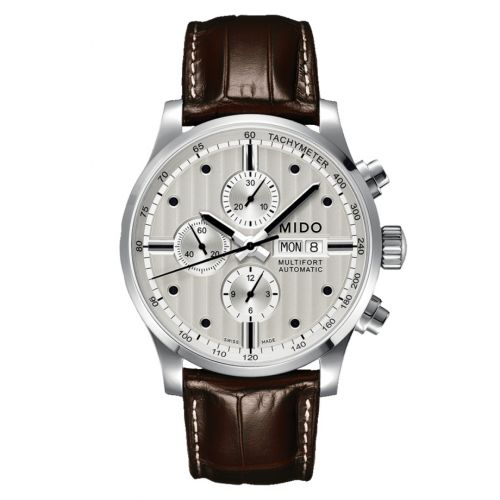 Mido M005.614.16.031.00 : Multifort Chronograph Stainless Steel / Silver