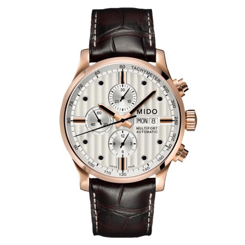 Mido M005.614.36.031.00 : Multifort Chronograph Rose Gold / Silver