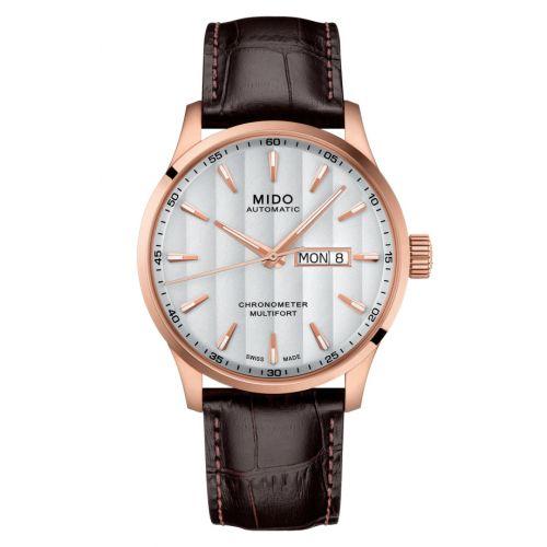 Mido M038.431.36.031.00 : Multifort Chronometer 1 Rose Gold / Silver / Strap