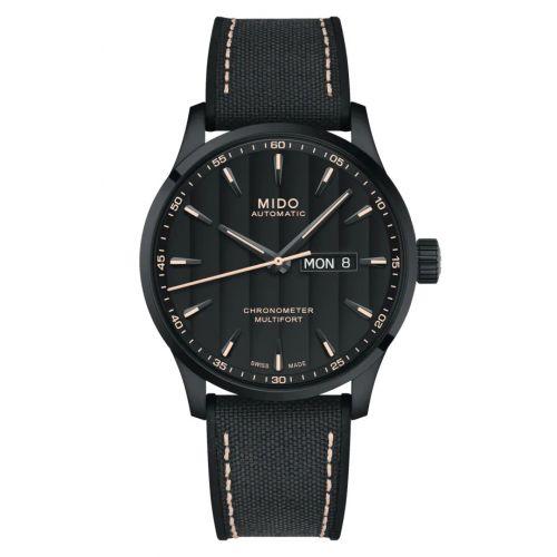 Mido M038.431.37.051.00 : Multifort Chronometer 1 PVD / Black / Strap