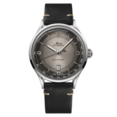 Mido M040.407.16.060.00 : Multifort Patrimony Stainless Steel / Anthracite