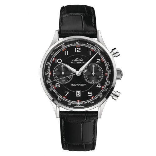 Mido M040.427.16.052.00 : Multifort Patrimony Chronograph Stainless Steel / Black
