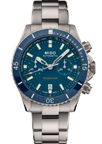 Mido M026.627.44.041.00 : Ocean Star Chronograph Stainless Steel / Blue