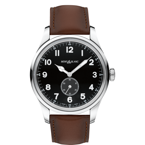 115073 : Montblanc 1858 Automatic Small Second Stainless Steel / Black