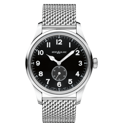115074 : Montblanc 1858 Automatic Small Second Stainless Steel / Black