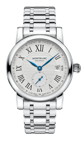 Montblanc 111912 : Star Roman Small Second Automatic Stainless Steel / Silver / Bracelet