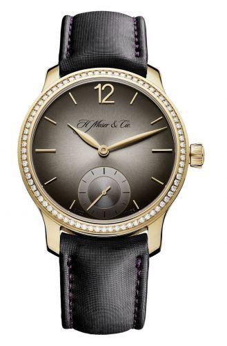 H. Moser & Cie 1321-0114 : Venturer Small Seconds, Rose Gold Diamond Bezel, Fumé Dial