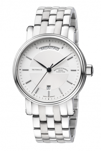 Mühle Glashütte M1-33-65-MB : Teutonia II Tag/Datum Silver / Bracelet