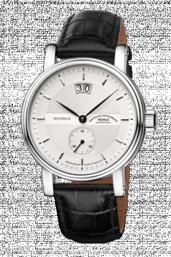 Mühle Glashütte M1-33-75-LB : Teutonia II Großdatum Chronometer Silver / Strap