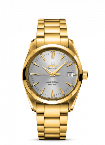 2103.30.00 : Omega Seamaster Aqua Terra 150M Co-Axial 39.2 Yellow Gold / Silver / Bracelet