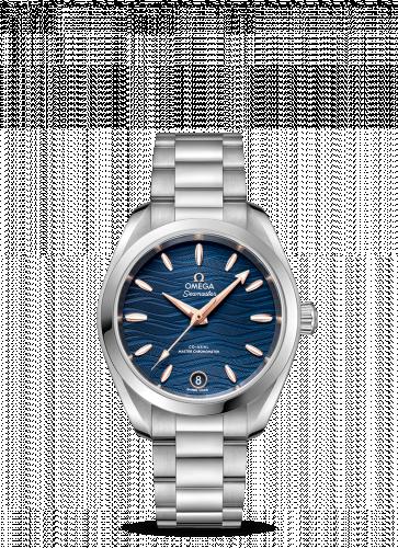 Omega 220.10.34.20.03.001 : Seamaster Aqua Terra 150M Master Chronometer 34 Stainless Steel / Blue-Waves / Bracelet