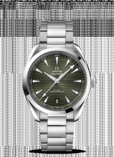 Omega 220.10.41.21.10.001 : Seamaster Aqua Terra 150M Master Chronometer 41 Stainless Steel / Green / Bracelet