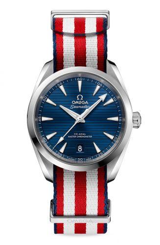 220.12.38.20.03.002 : Omega Seamaster Aqua Terra 150M Master Chronometer 38 Stainless Steel / Blue / NATO / US Olympic