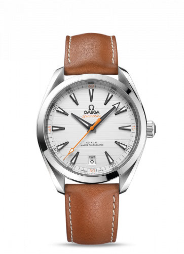 220.12.41.21.02.001 : Omega Seamaster Aqua Terra 150M Master Chronometer 41 Stainless Steel / Silver / Calf