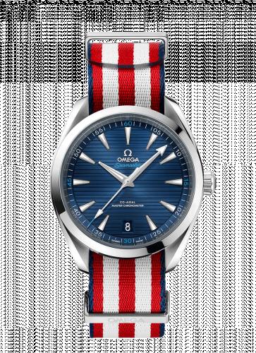 220.12.41.21.03.003 : Omega Seamaster Aqua Terra 150M Master Chronometer 41 Stainless Steel / Blue / NATO / Shaun White Edition