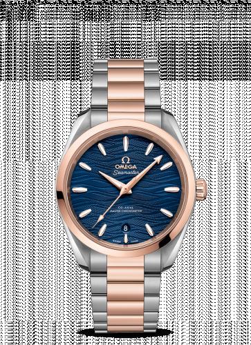 Omega 220.20.38.20.03.001 : Seamaster Aqua Terra 150M Master Chronometer 38 Stainless Steel / Sedna Gold / Blue-Waves / Bracelet