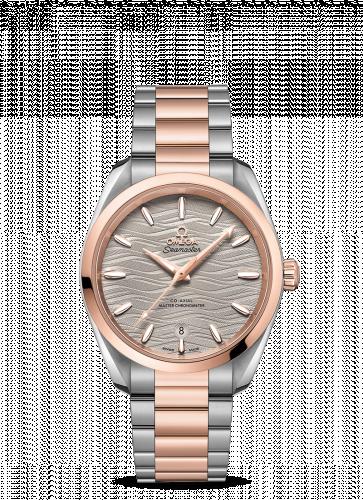 Omega 220.20.38.20.06.001 : Seamaster Aqua Terra 150M Master Chronometer 38 Stainless Steel / Sedna Gold / Grey-Waves / Bracelet