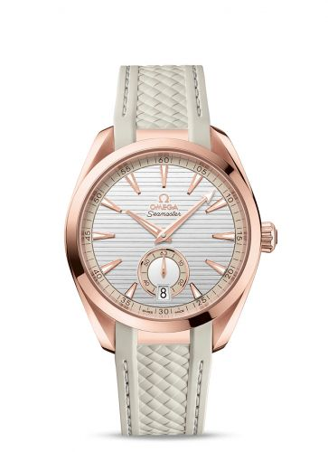 Omega 220.52.41.21.02.001 : Seamaster Aqua Terra 150M Master Chronometer Small Seconds 41 Sedna Gold / Silver / Rubber