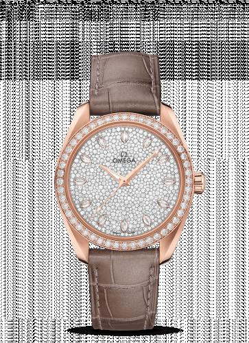 220.58.38.20.99.003 : Omega Seamaster Aqua Terra 150M Master Chronometer 38 Sedna Gold / Diamond / Snow Diamond / Alligator