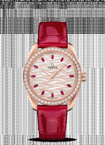 220.58.38.20.99.004 : Omega Seamaster Aqua Terra 150M Master Chronometer 38 Sedna Gold / Diamond / Wave Ruby / Alligator
