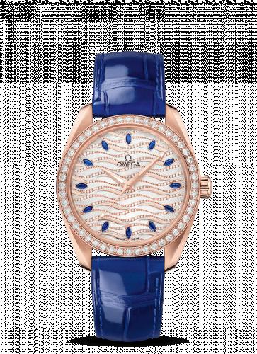 220.58.38.20.99.005 : Omega Seamaster Aqua Terra 150M Master Chronometer 38 Sedna Gold / Diamond / Wave Sapphire / Alligator