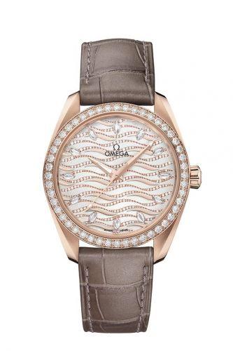 220.58.38.20.99.006 : Omega Seamaster Aqua Terra 150M Master Chronometer 38 Sedna Gold / Diamond / Wave Diamond / Alligator