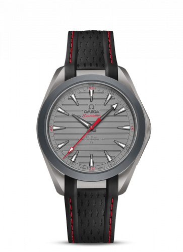 220.92.41.21.06.001 : Omega Seamaster Aqua Terra 150M Master Chronometer 41 Ultra Light Titanium / Grey - Red / Rubber