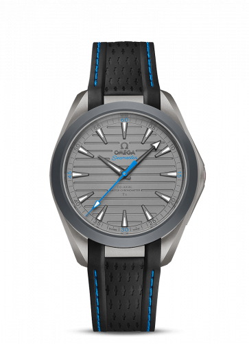 220.92.41.21.06.002 : Omega Seamaster Aqua Terra 150M Master Chronometer 41 Ultra Light Titanium / Grey - Blue / Rubber