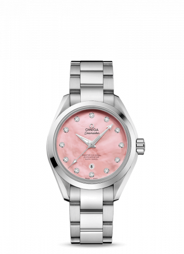 231.10.34.20.57.003 : Omega Seamaster Aqua Terra 150M Master Co-Axial 34 Stainless Steel / Pink MOP / Bracelet