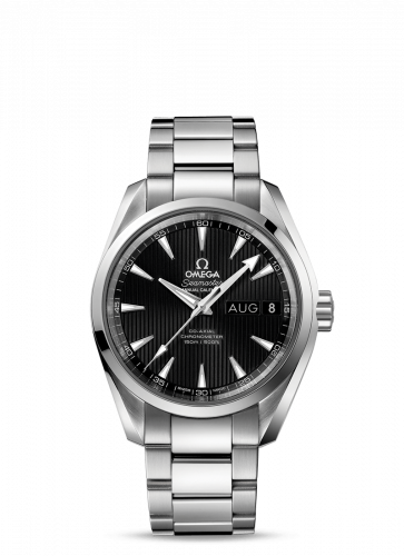 231.10.39.22.01.001 : Omega Seamaster Aqua Terra 150M Co-Axial 38.5 Annual Calendar Stainless Steel / Black / Bracelet