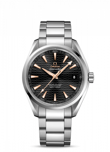 231.10.42.21.01.006 : Omega Seamaster Aqua Terra 150m Master Co-Axial 41.5 Stainless Steel / Black Waves / Bracelet