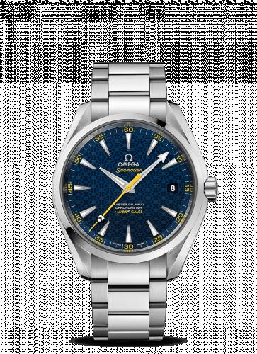 231.10.42.21.03.004 : Omega Seamaster Aqua Terra 150M Master Co-Axial 41.5 Stainless Steel / Blue / Bracelet / James Bond Spectre