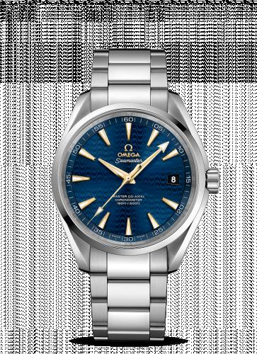 231.10.42.21.03.006 : Omega Seamaster Aqua Terra 150m Master Co-Axial 41.5 Stainless Steel / Blue Waves / Bracelet