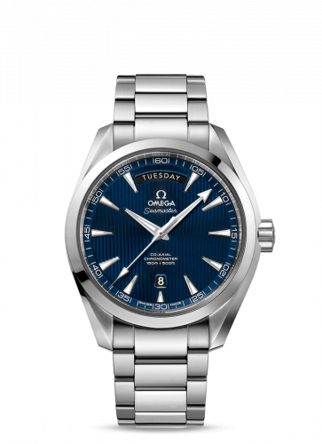 231.10.42.22.03.001 : Omega Seamaster Aqua Terra 150m Co-Axial 41.5 Day-Date Stainless Steel / Blue / Bracelet