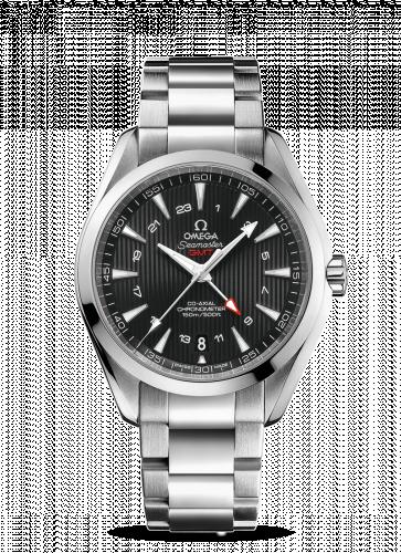 231.10.43.22.01.001 : Omega Seamaster Aqua Terra 150M Co-Axial 43 GMT Stainless Steel / Black / Bracelet