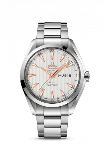 231.10.43.22.02.003 : Omega Seamaster Aqua Terra 150M Co-Axial 43 Annual Calendar Stainless Steel / Silver / Bracelet