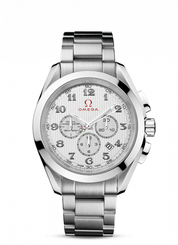 231.10.44.50.02.001 : Omega Seamaster Aqua Terra 150M Co-Axial 44 Chronograph Stainless Steel / Silver / Bracelet / Olympic Collection