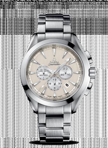 231.10.44.50.09.001 : Omega Seamaster Aqua Terra 150M Co-Axial 44 Chronograph Stainless Steel / Ivory / Bracelet