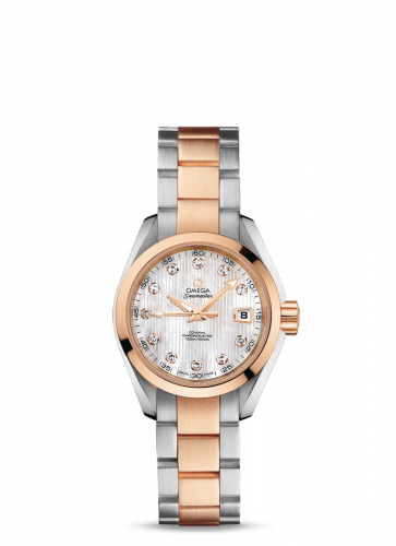 231.20.30.20.55.001 : Omega Seamaster Aqua Terra 150M Co-Axial 30 Stainless Steel / Red Gold / MOP / Bracelet