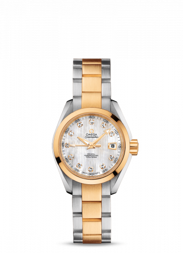 231.20.30.20.55.002 : Omega Seamaster Aqua Terra 150M Co-Axial 30 Stainless Steel / Yellow Gold / MOP / Bracelet