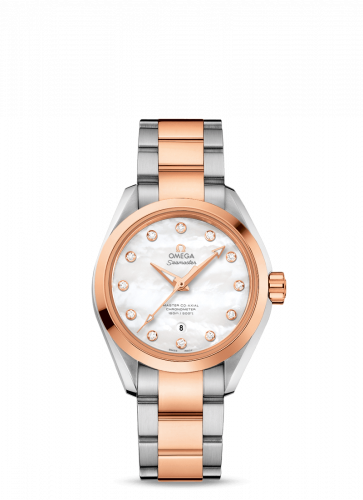 231.20.34.20.55.001 : Omega Seamaster Aqua Terra 150M Master Co-Axial Stainless Steel / Red Gold / MOP / Bracelet