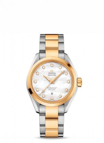 231.20.34.20.55.002 : Omega Seamaster Aqua Terra 150M Master Co-Axial 34 Stainless Steel / Yellow Gold / MOP / Bracelet