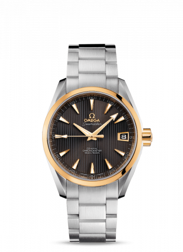 231.20.39.21.06.004 : Omega Seamaster Aqua Terra 150M Co-Axial 38.5 Stainless Steel / Yellow Gold / Grey / Bracelet