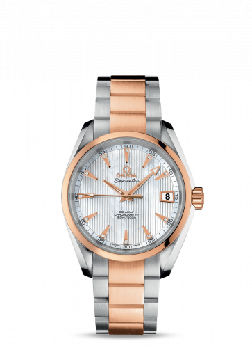 231.20.39.21.55.001 : Omega Seamaster Aqua Terra 150M Co-Axial 38.5 Stainless Steel / Red Gold / MOP / Bracelet
