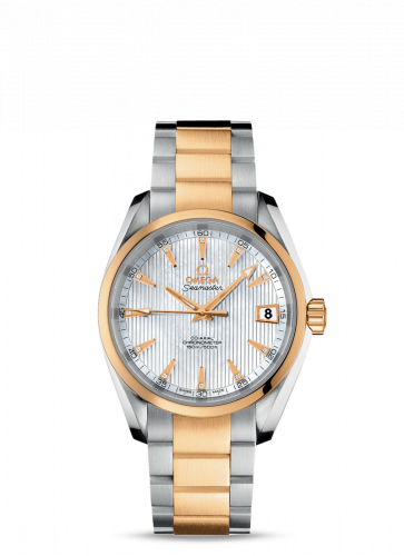 231.20.39.21.55.002 : Omega Seamaster Aqua Terra 150M Co-Axial 38.5 Stainless Steel / Yellow Gold / MOP / Bracelet