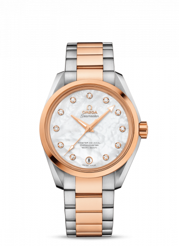 231.20.39.21.55.003 : Omega Seamaster Aqua Terra 150M Master Co-Axial 38.5 Stainless Steel / Red Gold / MOP / Bracelet